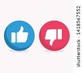 like and dislike icon symbol... | Shutterstock .eps vector #1418567552