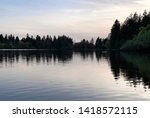 reflection on the lake ... | Shutterstock . vector #1418572115