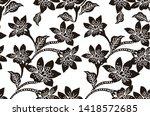 indonesian batik motif designs ...   Shutterstock .eps vector #1418572685