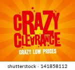 crazy clearance design template | Shutterstock .eps vector #141858112