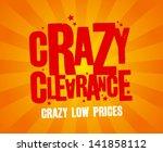 crazy clearance design template | Shutterstock .eps vector #141858112