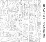 letters illustration seamless... | Shutterstock .eps vector #141859918