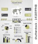 retro infographic demographic... | Shutterstock .eps vector #141859948