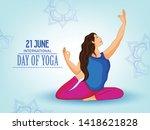 illustration of 21 june... | Shutterstock .eps vector #1418621828