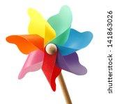 Colorful Pinwheel Isolated On...