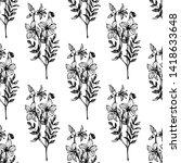 field flowers. seamless pattern.... | Shutterstock .eps vector #1418633648