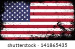 grunge flag of usa | Shutterstock .eps vector #141865435