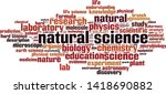 natural science word cloud... | Shutterstock .eps vector #1418690882