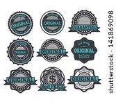 original seals over white... | Shutterstock .eps vector #141869098
