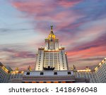 moscow  russia   may 17  2019 ... | Shutterstock . vector #1418696048