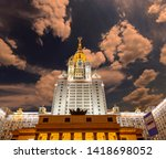 moscow  russia   may 17  2019 ... | Shutterstock . vector #1418698052