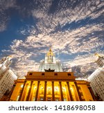 moscow  russia   may 17  2019 ... | Shutterstock . vector #1418698058
