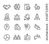 vector line icons of business... | Shutterstock .eps vector #1418712092