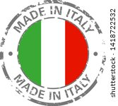 made in italy flag grunge icon | Shutterstock .eps vector #1418722532