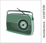 old radio vector   green | Shutterstock .eps vector #14187358