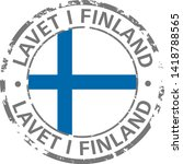 made in finland flag grunge icon | Shutterstock .eps vector #1418788565