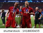 joel matip and virgil van dijk... | Shutterstock . vector #1418830655