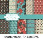 set of vector abstract flower... | Shutterstock .eps vector #141883396