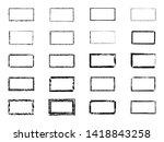 grunge rectangles. banners ... | Shutterstock . vector #1418843258