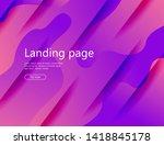 wavy geometric background.... | Shutterstock .eps vector #1418845178