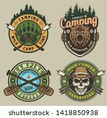 colorful summer adventure... | Shutterstock .eps vector #1418850938