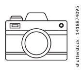 camera photographic gadget...   Shutterstock .eps vector #1418874095