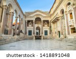split  croatia  early morning... | Shutterstock . vector #1418891048