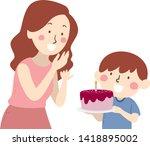illustration of a kid boy... | Shutterstock .eps vector #1418895002