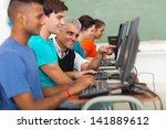 happy male senior teacher... | Shutterstock . vector #141889612