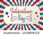united states independence day... | Shutterstock . vector #1418898125