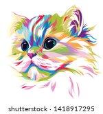 Illustration Beautiful Cat On...