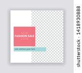 sale   fashion concept social... | Shutterstock .eps vector #1418930888
