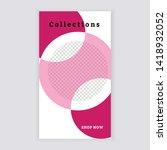 social media banner template.... | Shutterstock .eps vector #1418932052
