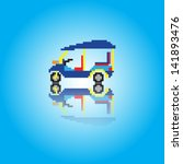 pixels art   tuk tuk  public...   Shutterstock .eps vector #141893476