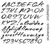 vector real hand calligraphic... | Shutterstock .eps vector #141896035