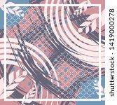 abstract silk scarf creative... | Shutterstock .eps vector #1419000278