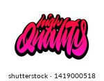 high quality  best quality ... | Shutterstock .eps vector #1419000518