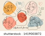 modern abstract faces.... | Shutterstock .eps vector #1419003872