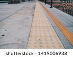 yellow tactile paving for blind ... | Shutterstock . vector #1419006938