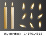 realistic candle burn set ... | Shutterstock .eps vector #1419014918
