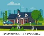 flat vector illustration on... | Shutterstock .eps vector #1419030062