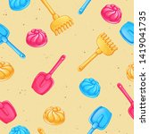 seamless vector pattern with... | Shutterstock .eps vector #1419041735