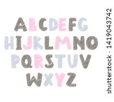 abstract colorful alphabet for... | Shutterstock .eps vector #1419043742