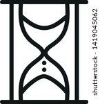 sandglass or hourglass line... | Shutterstock .eps vector #1419045062