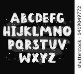 abstract black alphabet in... | Shutterstock .eps vector #1419049772