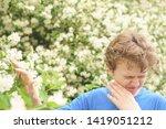 teenager with allergies...   Shutterstock . vector #1419051212