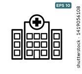 hospital   building icon vector ... | Shutterstock .eps vector #1419056108