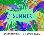 summer vector illustration with ... | Shutterstock .eps vector #1419061682