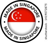 made in singapore flag icon | Shutterstock .eps vector #1419072875