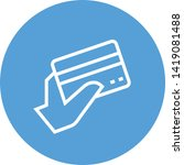 credit card purchase outline... | Shutterstock .eps vector #1419081488